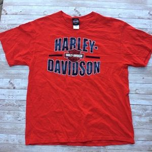 Harley Davidson Black Cat T-shirt Size XL